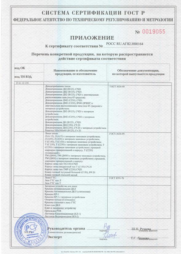 Сертификат соответствия на УОП-6